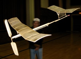 Indoor Pusher Model flown by Bob K.