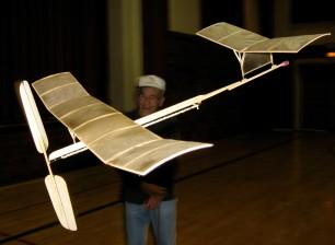 Indoor Pusher Model flown by Bob K.