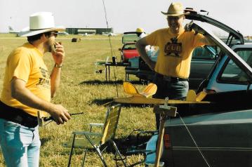 Vintage 1990s photo of Mike Basta and Roger Shroeder