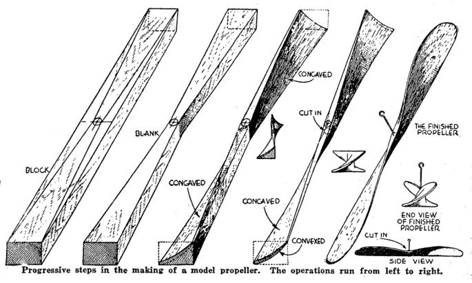 steps in making a model propeller