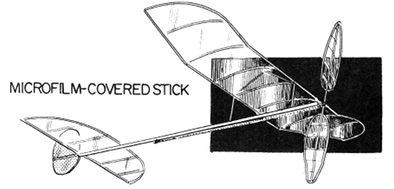 Microfilm-covered stick 400