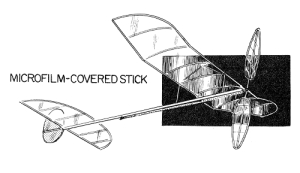 Microfilm-covered stick 500