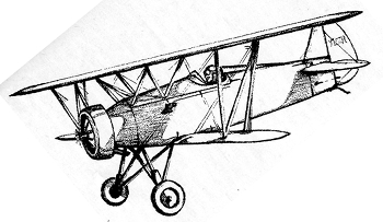 pencil sketch biplane-right 350