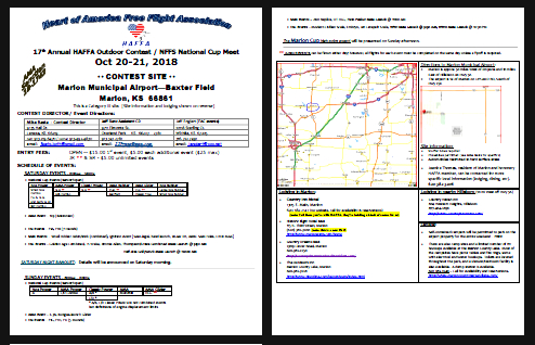 Marion fall contest 2018 flyer