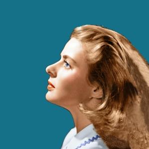 Ingrid Bergman teal