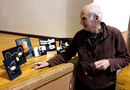 On February 3, 2018 the HAFFA Indoor modelers held a surprise unveiling of a group of framed photos of his work doing miniature furniture in the late 1980s and 90s.