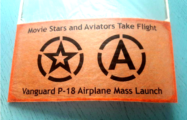 movie stars and aviators take flight vanguard p-18 logo wing tip photo orange