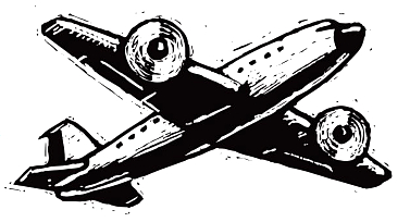 airliner woodcut