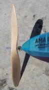Balsa Propeller and Free Wheeling mechanism - Jeff Nisley's Bostonian Bludgy by Ed Lidgard