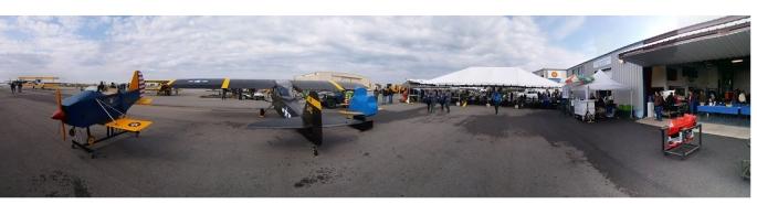 panoramic of hangar day 2018