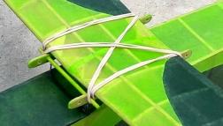 Parasol wing mount with cabane struts - Jeff Nisley's Half-size Kansas Wakefield