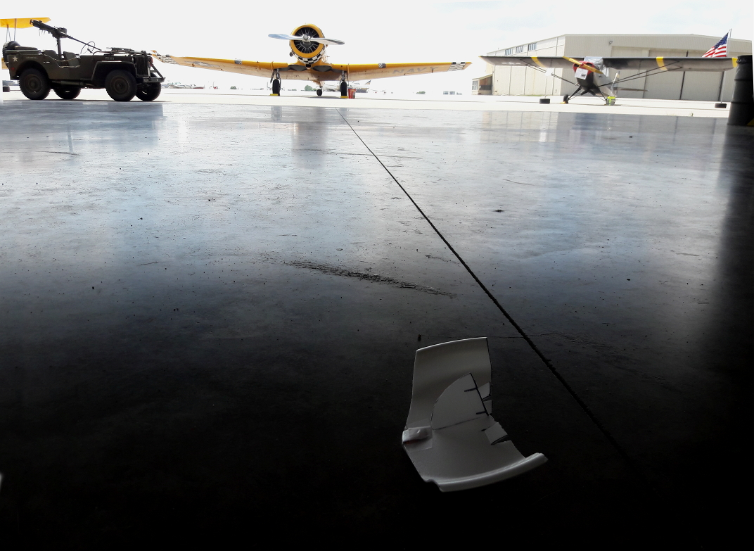 Plane left at Open Hanger Days
