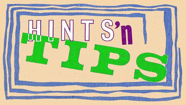 HINTS'nTIPS banner