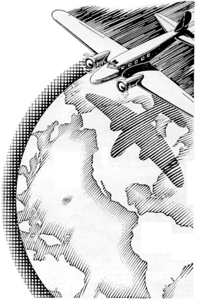 globe airplane 400